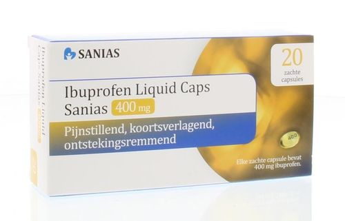 Sanias Ibuprofen liquid caps 400 mg - 20 stuks