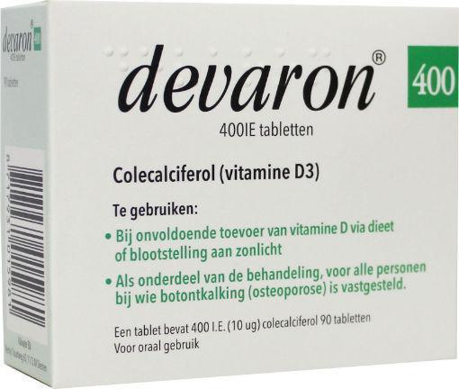 Devaron Vitamine D 400ie 90 Tabletten Www Servicedrogist Eu