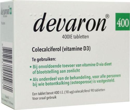 Devaron vitamine D 400IE - 90 tabletten