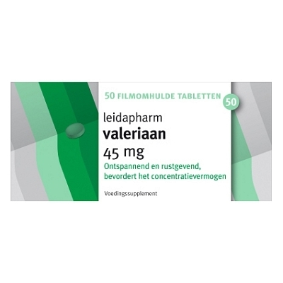 Leidapharm valeriaan extract 45 mg - 50 tabletten