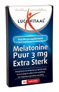 Lucovitaal melatonine 3 mg EXTRA STERK - 30 tabletten