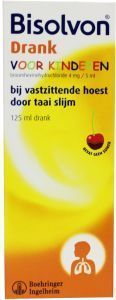 Bisolvon Kind elixer 4 mg/5ml chocolade-kersen smaak - 125 ml