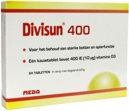 Divisun 400IE vitamine D3 - 84 tabletten