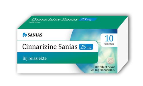 Cinnarizine 25 mg Sanias - 10 tabletten