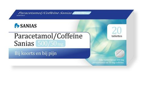 Sanias Paracetamol coffeine 500/50 mg - 20 tabletten