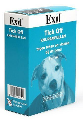 Exil Tick off knijpampul hond - 6x 1 ml