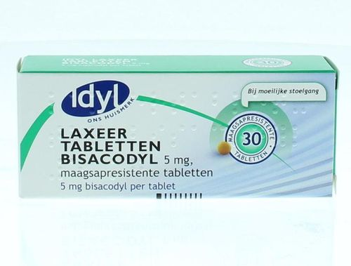 Idyl Bisacodyl laxeer 5 mg - 30 tabletten