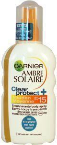 Garnier Ambre solaire clear protect SPF 15 spray - 200 ml