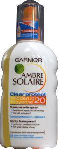 Garnier Ambre solaire clear protect SPF 20 spray - 200 ml