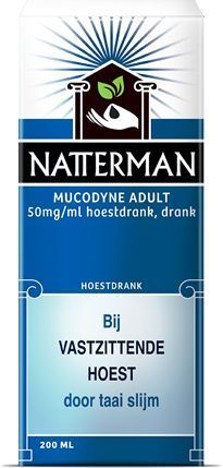Natterman Mucodyne adult (carbocisteïne 50 mg/ml) - 200 ml