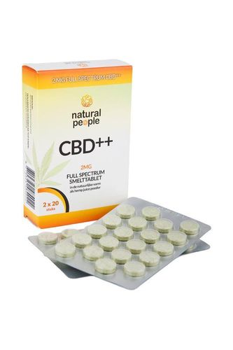Natural People CBD smelttablet 2 mg - 40 tabletten