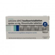 Cetirizine  Apotex 10 mg tablet - 30 tabletten