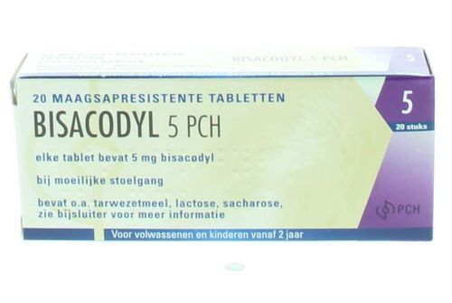 Bisacodyl 5 mg TEVA - 20 tabletten