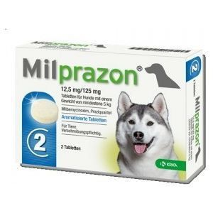 Milprazon grote hond 12,5mg/125mg - 2 tabletten