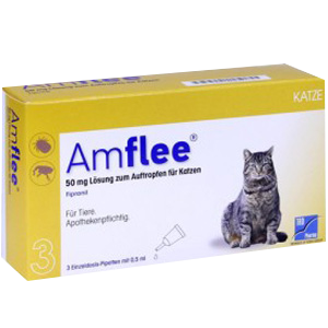 Amflee 50 mg spot-on kat - 3 pipetten