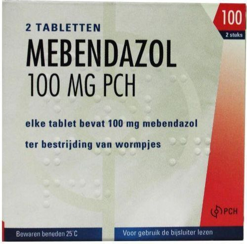 Mebendazol anti-wormtabletten 100 mg PCH - 2 tabletten