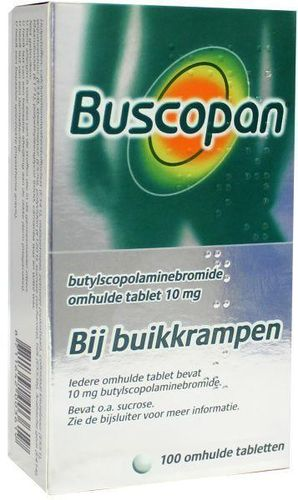 Buscopan 10 mg - 100 tabletten