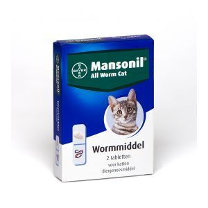 Mansonil All Worm Cat - 2 tabletten