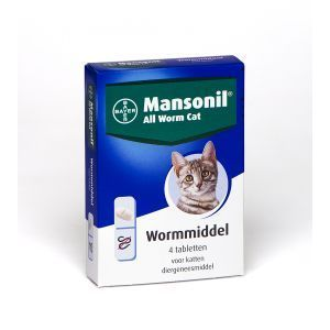 Mansonil All Worm Cat - 4 tabletten