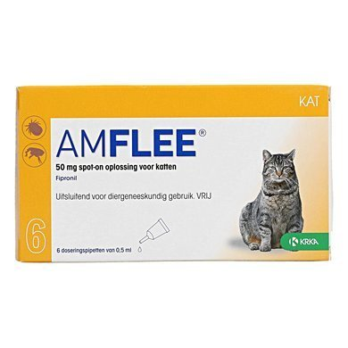 Amflee 50 mg spot-on kat - 6 pipetten