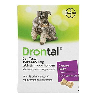 Drontal Dog Tasty ontwormtabletten - 2 tabletten
