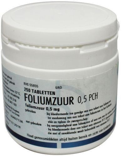 Foliumzuur 0,5 mg TEVA - 250 tabletten