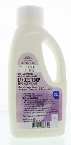 Laxeerstroop TEVA 667mg/ml lactulose - 300 ml